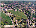 TQ7987 : Aerial view of King John School, Benfleet, wide view by Edward Clack