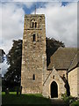 NZ0461 : Bywell St. Andrew - tower (south face) by Mike Quinn