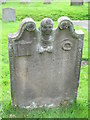 NZ0461 : Bywell St. Andrew - 18th C gravestone by Mike Quinn