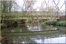 SP3365 : Newbold Comyn Park footbridge over the River Leam by Andy F