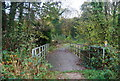 TQ7413 : Footbridge carrying the 1066 Country Walk over Powdermill stream into Fore Wood by N Chadwick