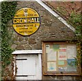 ST6990 : Historic AA road sign for Cromhall village by Steve  Fareham