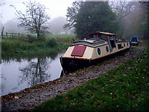 SK0220 : Boats moored on the Trent & Mersey canal. by Howard Selina