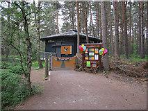 NH9718 : Entrance to RSPB Loch Garten Osprey watchpoint by Hugh Venables