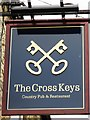 NZ1131 : Sign for The Cross Keys by Mike Quinn