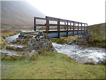 NN2256 : Footbridge over the River Coupall by John Ferguson
