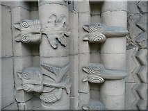SK2129 : Detail of the western doorway of St Mary's Church, Tutbury by Humphrey Bolton