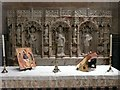 SK2129 : The reredos in the Lady Chapel in the south aisle, St Mary's Church, Tutbury by Humphrey Bolton