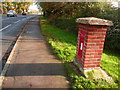 SY9793 : Upton: postbox № BH16 2, Dorchester Road by Chris Downer