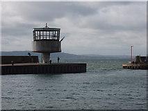 J4186 : Radio control tower, Carrickfergus harbour by David Hawgood