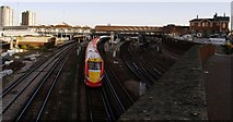 TQ2775 : Clapham Junction Station from St John's Hill Bridge by tristan forward
