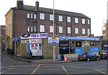 SE1437 : McNic's Fish & Chips - Otley Road by Betty Longbottom