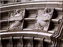 TQ2779 : Detail from Drury's Doorway to the Victoria and Albert Museum (v) by tristan forward