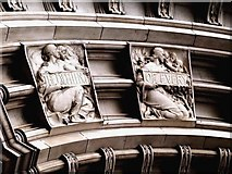 TQ2779 : Detail from Drury's Doorway to the Victoria and Albert Museum (i) by tristan forward