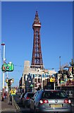 SD3035 : The Promenade and Tower in Blackpool by Steve Daniels