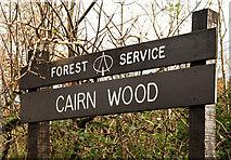 J4477 : Sign, Cairn Wood near Belfast by Albert Bridge