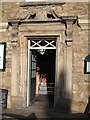 NY9864 : The doorway of Heron House by Mike Quinn
