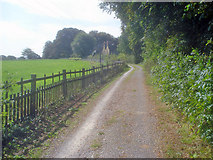 SK4664 : Driveway past The Grange by Trevor Rickard