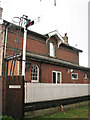 TM1985 : The former railway station in Pulham Market (station front) by Evelyn Simak