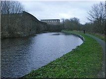 SD8537 : Leeds and Liverpool Canal and Lomeshaye Bridge Mill by Alexander P Kapp
