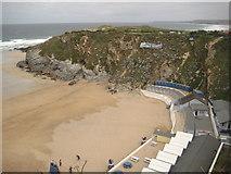SW8262 : Lusty Glaze Beach, Newquay by Philip Halling