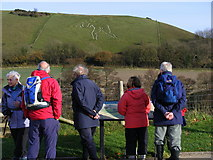 ST6601 : Viewing the Cerne Giant at Cerne Abbas by Gillian Thomas