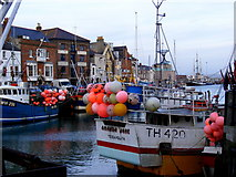 SY6778 : Weymouth Harbour Scene by Gillian Thomas