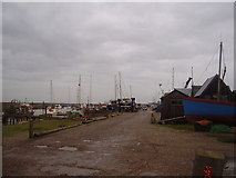 TM5075 : Southwold Harbour looking West by Ashley Dace