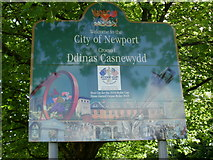 ST3091 : Closeup of Welcome to Newport sign by Jaggery
