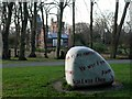 NZ2560 : 'The Language Stone', Saltwell Park by Andrew Curtis