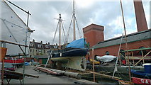 ST5772 : Boatbuilding in the Underfall Yard, Bristol Harbour by Anthony O'Neil
