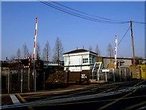 TQ1979 : Signal Box at Bollo Lane level crossing by tristan forward
