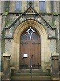 SD8789 : Hawes Methodist Church, Doorwayd by Alexander P Kapp
