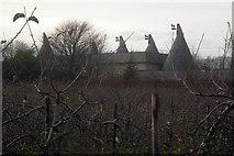 TQ9345 : Sheerland Farm Oast, Swan Lane, Pluckley, Kent by Oast House Archive