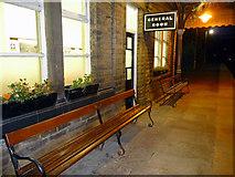 SD9926 : Waiting room on platform 1 - Hebden Bridge station by Phil Champion
