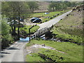 NZ6507 : Footbridge, ford and car park at Hob Hole by Philip Barker