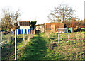 TG3106 : Sheds by allotment gardens by Evelyn Simak