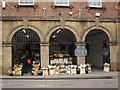 ST4126 : Greengrocer and Flower seller in the Town Hall, Langport, Somerset by nick macneill