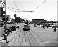 SD3035 : Tram on Blackpool Promenade by Dr Neil Clifton