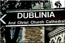 O1533 : Dublin - Dublinia & Christ Church Cathedral sign by Joseph Mischyshyn