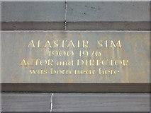 NT2473 : Alastair Sim memorial stone, Lothian Road by kim traynor