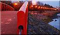 J3473 : Footbridge, Lagan walkway, Belfast by Albert Bridge