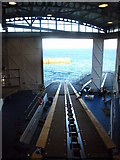 SW3526 : Sennen Cove lifeboat house interior by Rod Allday