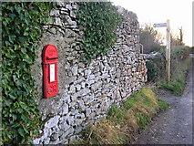 SD4576 : Georgian postbox, Far Arnside by Karl and Ali
