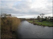 NZ2115 : River Tees at Piercebridge - view east by Philip Barker