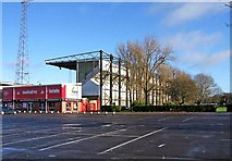 SU1585 : The Don Rogers Stand (external view), Swindon Town Football Club, The County Ground by P L Chadwick