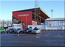SU1585 : The Arkell's Stand (external view), Swindon Town Football Club, The County Ground by P L Chadwick