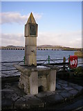 SD4578 : Memorial drinking fountain, Arnside promenade by Karl and Ali