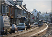 TM0855 : High Street on a snowy morning by Andrew Hill