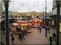 SU1584 : Lights and diversions, The Parade, Swindon by Brian Robert Marshall